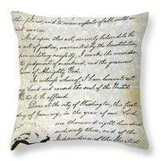 Emancipation Proc., P. 4 Throw Pillow