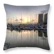 Embarcadero Marina   Throw Pillow