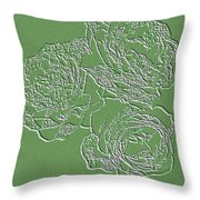 Embossed Roses Throw Pillow by Will Borden