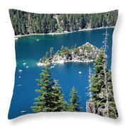 Emerald Bay Vertical Throw Pillow