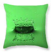 Emerald Crown Throw Pillow