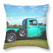 Emerald Green 1936 Ford Pickup Throw Pillow