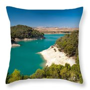 Emerald Lake. El Chorro. Spain Throw Pillow