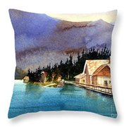 Emerald Lake Lodge B.c Throw Pillow