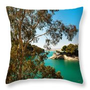 Emerald Lake With Duke House I. El Chorro. Spain Throw Pillow