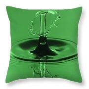 Emerald Umbrella Throw Pillow