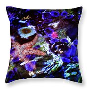 Emerged Starfish Throw Pillow