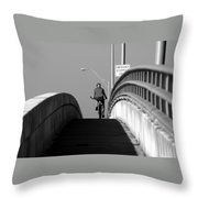 Emergency Stopping Only Throw Pillow