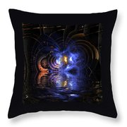 Emerging From The Depths Throw Pillow