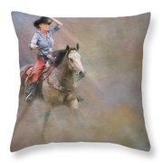 Emerging Throw Pillow by Susan Candelario