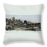 Emigrants To Ohio, 1805 Throw Pillow