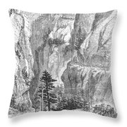 Emigrants To The West, 1865 Throw Pillow
