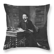 Emile Zola 1840-1902 Novelist Throw Pillow