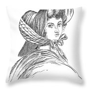 Emily Bront� (1818-1848) Throw Pillow by Granger