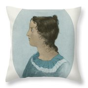 Emily Bronte, English Author Throw Pillow