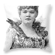 Emma Abbott (1849-1891) Throw Pillow