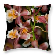 Emma's Orchid Throw Pillow