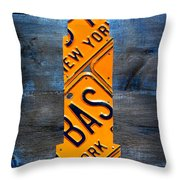 Empire State Building Nyc License Plate Art Throw Pillow