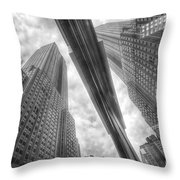 Empire State Reflection Throw Pillow