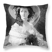 Empress Eugenie Of France Throw Pillow