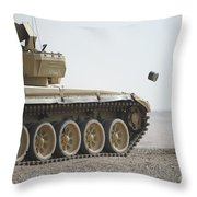 Empty Casings Eject From An Iraqi T-72 Throw Pillow