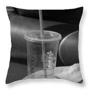Empty Starbucks Throw Pillow