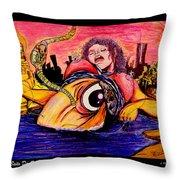 En El Bano De Soledad Throw Pillow