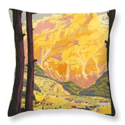 En Tarentaise - Vintage French Travel Throw Pillow