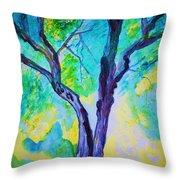 Enbracing Trees Throw Pillow