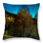Enchanted Evening In The Forest Throw Pillow