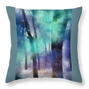 Enchanted Forest. Painting With Light Throw Pillow