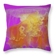 Enchanted Jellyfish 2 Throw Pillow