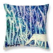 Enchanted Winter Forest Throw Pillow