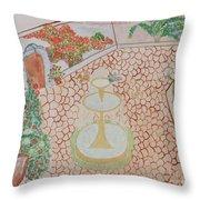 Enchanting Garden Throw Pillow
