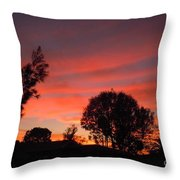End Of A Perfect Day Throw Pillow