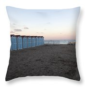 End Of Day - Mondello Beach Throw Pillow