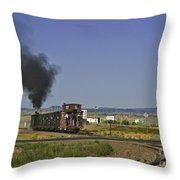 End Of Standard Gauge Throw Pillow