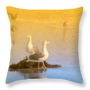 End Of The Day Throw Pillow by Betty LaRue