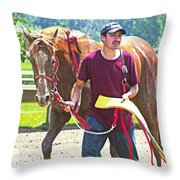 End Of The Race Throw Pillow