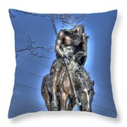 End Of The Trail - From My Point Of View Throw Pillow
