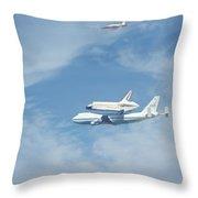 Endeavour's Final Flight Throw Pillow