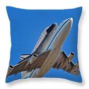 Endeavour's Last Flight Throw Pillow