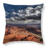 Endless Canyons Throw Pillow