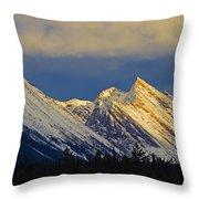 Endless Chain Ridge, Icefields Parkway Throw Pillow