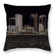 Energized Tampa - Digital Art Throw Pillow