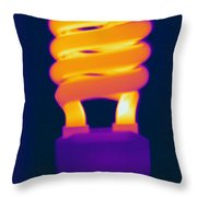 Energy Efficient Fluorescent Light Throw Pillow
