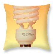 Energy Saving Light Bulb Throw Pillow