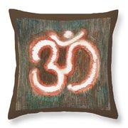 Energy Symbol Om Aum Throw Pillow