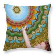 Enfant Soleil Throw Pillow