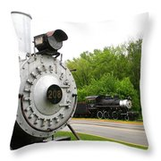 Engine 208 Throw Pillow